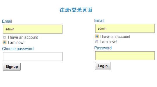 注册/登录页面