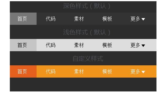 jQuery 响应式菜单,窗口小或者低分辨率隐藏部分导航内容