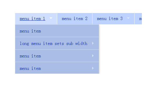 支持触摸设备的下拉导航菜单和megamenu